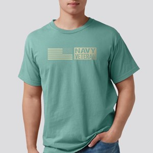 U.S. Navy: Veteran (Black Fla T-Shirt